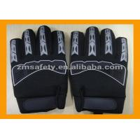 Buy cheap Black Synthetic Leather Mechanic Work Gloves Palm Padded With EVA Foam from wholesalers