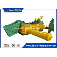 Buy cheap Customized PLC Control Hydraulic Metal Baler Machine Round Packing Block Or Square Bale product