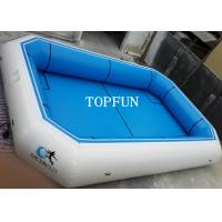 Pvc Tarpaulin Blue Portable Swimming Pools Inflatable Water Park Fire Retardant Of