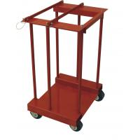 Buy cheap 4 Gas Cylinder Pallet Rack , Easily Move Compressed Gas Bottle Rack With Caster from wholesalers