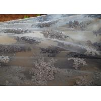 Buy cheap Blue Flower Embroidery Pearl Corded Lace Fabric With Eyelash Edge For Gown from wholesalers