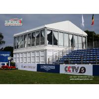 Buy cheap 10x20m Luxury Outdoor Party Double Decker Tents 2 Floors with Glass Wall &Linings Curtains from wholesalers