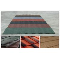 Grid / Wave Stone Coated Lightweight Metal Roof Tiles , architectural european roof tile