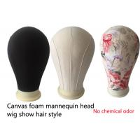 Buy cheap Hair salons tools Mannequin Canvas Block Head mold printing black beige China factory from wholesalers