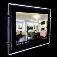Buy cheap Customized Crystal LED Light Box Panel / Fashion LED Lighted Poster Frame from wholesalers
