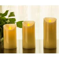 Buy cheap Flickering Candle Real Wax Flameless LED Candles with Dancing Flame 3 4 5 from wholesalers