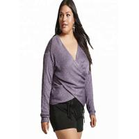 Buy cheap Purple V Neck Plus Size Clothing 6XL Long Pullover Style Standard Thickness from wholesalers