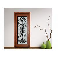 Buy cheap Advanced Custom Wrought Iron Entry Doors Iron Mosaic Glass Thickness 20-30 Mm from wholesalers