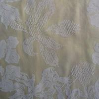 Buy cheap 100% Polyester voile flocking curtain fabric, flocked organdy fabric, then spread gold powder from wholesalers