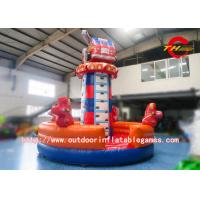 Buy cheap Backyard Children Fire Truck Cartoon Inflatable Rock Climbing Wall For Rental from wholesalers