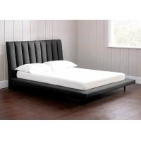 Buy cheap Individual Black Linen Fabric Bed , Linen Upholstered Sleigh Bed from wholesalers