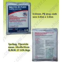 Buy cheap Disposable Waterproof PE Drop Cloth from wholesalers