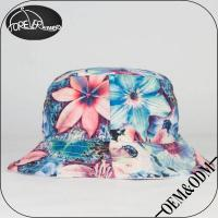 Buy cheap 2015 Fashion Polyester Blank Style Floral Bucket Hat Wholesale from wholesalers