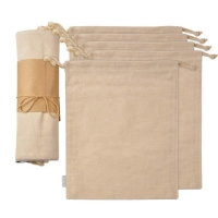 Buy cheap Household 100% Cotton Muslin Drawstring Storage Bags from wholesalers