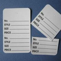 Buy cheap Control Tags, Printed and Perforated, Colors Selectable from wholesalers