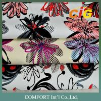 Buy cheap Handle soft Print woven PU Leather For shoes / garment EN SGS ROHS product