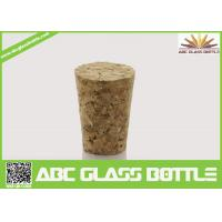 Buy cheap Wholesale wooden synthetic round small glass bottle wooden cork manufacturers, cork stopper product