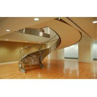 Buy cheap Staircase Curved Safety Glass Hurricane Proof , 10mm Toughened Glass from wholesalers