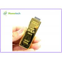 Buy cheap Creative design Gold Bar USB Flash Drive Memory disk 2GB / 4GB / 8GB / 16GB / 32GB from wholesalers