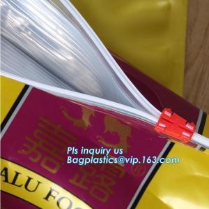 China Side Gusset Plastic Aluminum Foil plastic Pet dog Food Bag with slider zipper, dog food block bottom pouch with slider c on sale