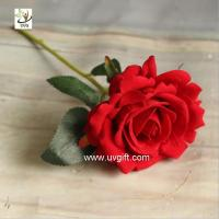 Buy cheap UVG FRS66 wedding accessories artificial red velvet rose flower for party table decoration from wholesalers