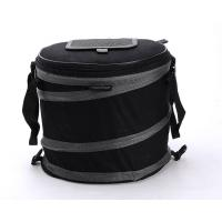 Buy cheap collapsible tube cooler bag, elastic strips folding lunch bag for outdoor picnic time from wholesalers