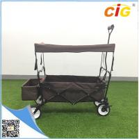 Buy cheap Garden Beach Tool Sports Wagon Cart , Folding Trolley Wagon with Canopy product