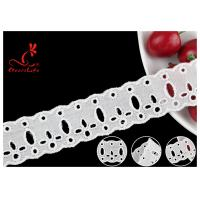 Buy cheap Original Cotton Lace Fabric Trim With Double Scalloped Edge Via SGS product