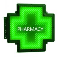 Buy cheap Shining Cabinet LED Pharmacy Cross Signs Outside Door Advertising 50cm Screen from wholesalers