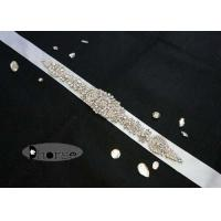 Buy cheap Sew on Beaded Rhinestone Bridal Sash , Rhinestone Wedding Dress Sash from wholesalers