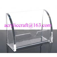 Buy cheap Transparent acrylic name card case / place card holder from wholesalers