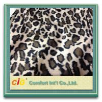 Buy cheap Animal Printed Realistic Faux fur Fabric For Scarf Garment / Coat , Soft Long Pile Fake Fur Material product