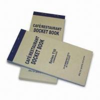 Buy cheap Customized Docket Book in Duplicate, Made of Carbonless Copy Paper, 150g Kraft Paper Cover from wholesalers