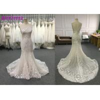 Buy cheap Spring And Summer Elegant Mermaid Style Wedding Dress Floor Length Embroidery from wholesalers