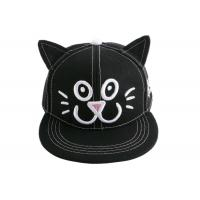 Buy cheap 3D Embroidery Cat Ear Snapback Baseball Caps Cartoon 6 Panel Brushed Cotton Cap For Kids from wholesalers