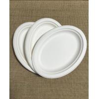 Buy cheap 10x 8 oval compostable plate sugarcane fiber bagasse pulp plate from wholesalers