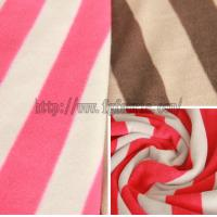 Buy cheap Stripe Anti-Pilling Polar Fleece Printed Polyester Fleece Fabric Factory KFE-006 from wholesalers