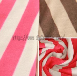 Buy cheap Stripe Anti-Pilling Polar Fleece Printed Polyester Fleece Fabric Factory KFE-006 product