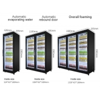 Buy cheap 500L commercial triple glass doors display fridge/freezer from wholesalers