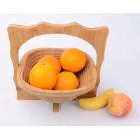 Buy cheap Gift Bamboo Wooden Tea Pot Folding Collapsible Fruit Basket Board Mat from wholesalers