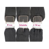 Buy cheap 9A Unprocessed Straight Virgin Hair with Closure Full Cuticles Last Long Time from wholesalers