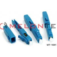 Buy cheap Lightweight Blue Fiber Optic LC Connector FTTH LC Assembly Without Fusion Splicing Machine from wholesalers