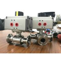 Buy cheap Pneumatic Rotary Actuator Qperated Ball Valve from wholesalers