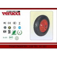 Buy cheap 6.00 - 6 Pu Barrow solid Rubber Wheel 147MM × 377MM For Sack Truck from wholesalers