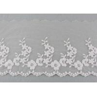 Buy cheap Ivory Cotton Lace Trim With Floral Lace Design Nylon Net For Bridal Dress Ribbon product