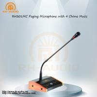 China RH-AUDIO PA SYSTEM Professional Paging Microphone with 4 Chime Music for Office Music System on sale