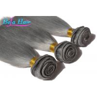 Buy cheap Dyed Color European Human Hair Extensions Grey Human Hair Weaving from wholesalers