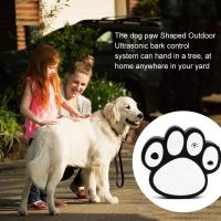 Buy cheap Dog Paw Shape Ultrasonic Dog Bark Control Indoor Outdoor Deterrent Control Device from wholesalers