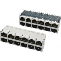 Buy cheap 2x6 ports stacked Modular Jack, shielded with EMI fingers from wholesalers