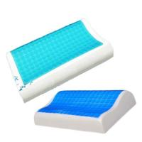 Buy cheap Contour Gel Memory Foam Pillow For Airplane / Bedding / Bath Washable Velour Cover from wholesalers